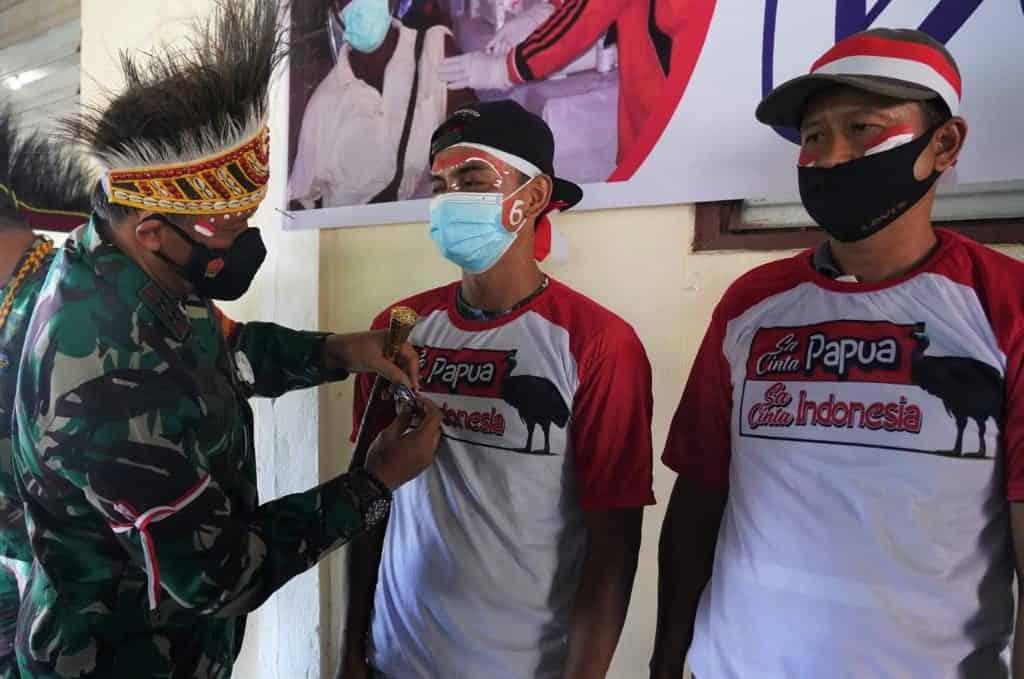 Pencanangan Pin Vaksinasi, Pangdam XVIII/Kasuari : Kita Harus Merdeka Dari Wabah Pandemi Covid 19