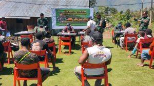 Serbuan Vaksinasi Kodim Jayawijaya di Kampung Ilekma Disambut Antusias Warga