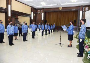 Pengukuhan DPK Sub Unit Korpri Jajaran TNI AD 2021 dan Sosialisasi Korpri