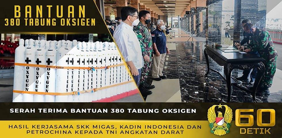 Serah Terima 380 Tabung Oksigen Bantuan SKK Migas Bekerja Sama dengan Kadin Indonesia dan PetroChina