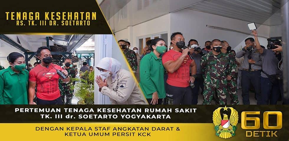 Pertemuan Tenaga Kesehatan RS dr. Soetarto Yogyakarta dengan Kasad dan Ketua Umum Persit KCK