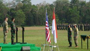 Kasad dan Commanding General USARPAC Sebagai Irup pada Pembukaan Latma Garuda Shield Ke-15