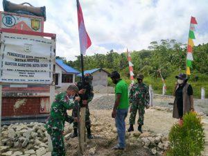 Sambut HUT Kemerdekaan RI, TNI Bersama Warga Merah Putih kan Papua