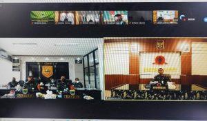 Pimpin Rapat Evaluasi Satgaster, Pangdam XVIII/Kasuari Apresiasi Jajarannya Dalam Membantu Wilayah Kondusif