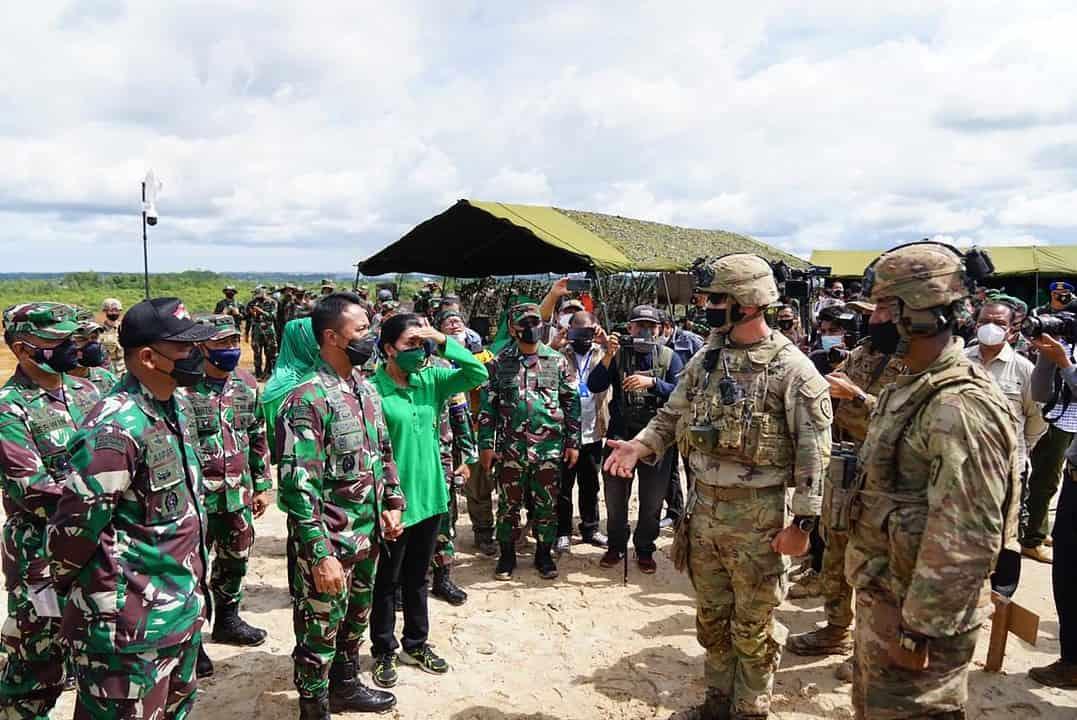 Kasad Meninjau Latma Garuda Shield Ke-15 di Amborawang