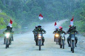 Sambut HUT Ke-76 RI, Pangdam XVIII/Kasuari Pimpin Touring Merah Putih