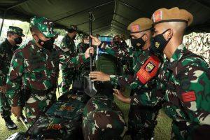 Pemeriksaan Kesiapan Operasi Pangdam I/BB di Mako Yonarhanud 11/WBY