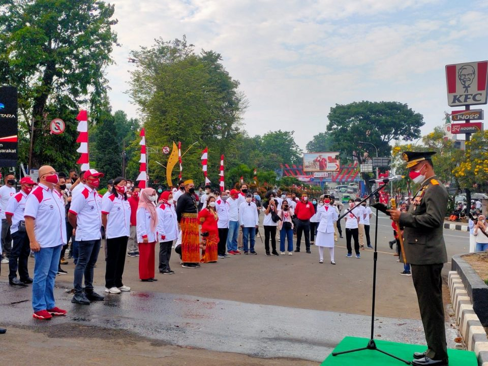 Peringatan HUT ke 76 RI, Danrem 061/SK Bacakan Ikrar Kebangsaan di Tugu Kujang