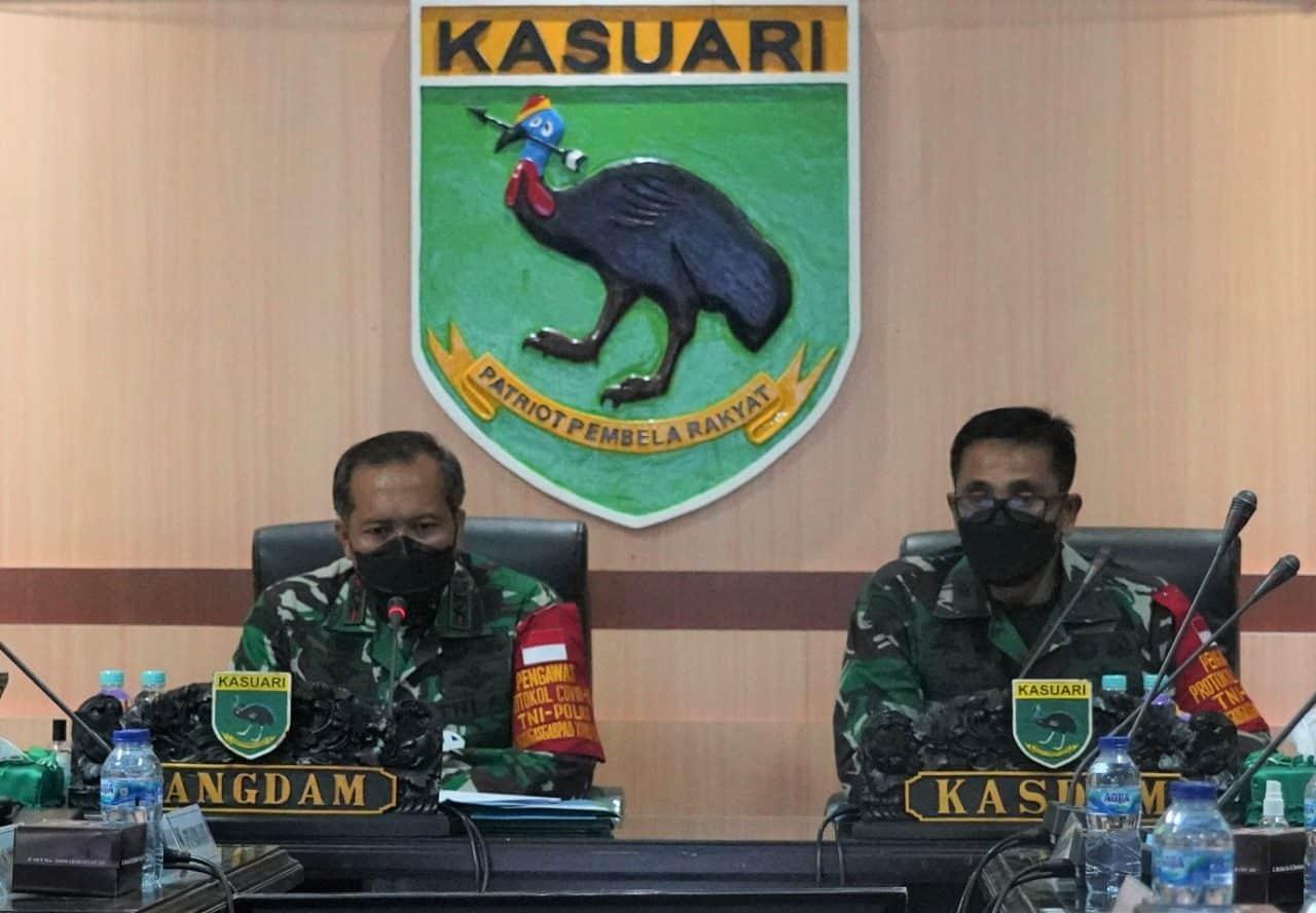 Pangdam XVIII/Kasuari Pimpin Rapat Evaluasi Ops Pamrahwan, Pam Puter dan Penanganan Covid-19, Opini Positif Pembangunan Papua Tinggi