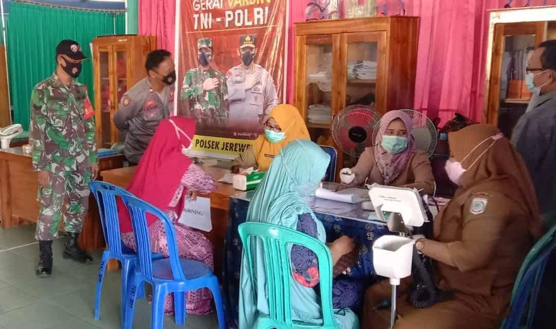 Koramil Jajaran Kodim 1628/ SB Bersinergi Percepat Penanganan Covid 19 di Sumbawa Barat