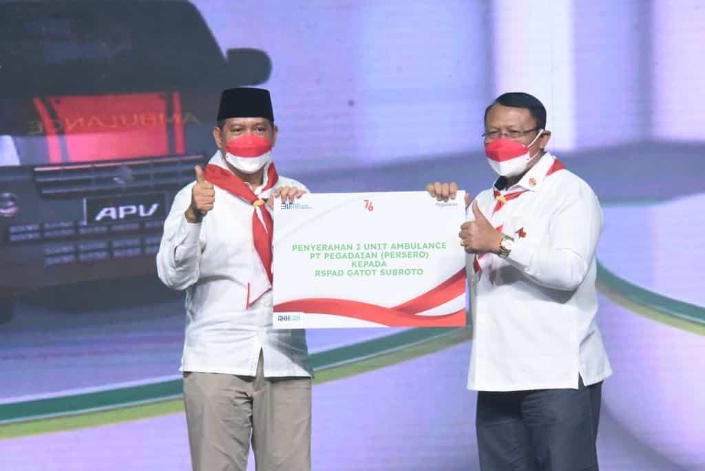 RSPAD Gatot Soebroto Terima Bantuan Dua Unit Ambulans Dari PT Pegadaian (Persero)