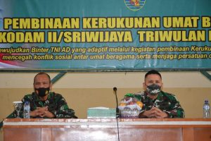 Kodam II/Sriwijaya Gelar Kegiatan Pembinaan Kerukunan Umat Beragama