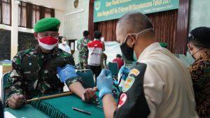 Untuk Kemanusian, HUT ke 72 Korem 061/SK Gelar Aksi Donor Darah Plasma Konvalesen dan Donor Darah Reguler