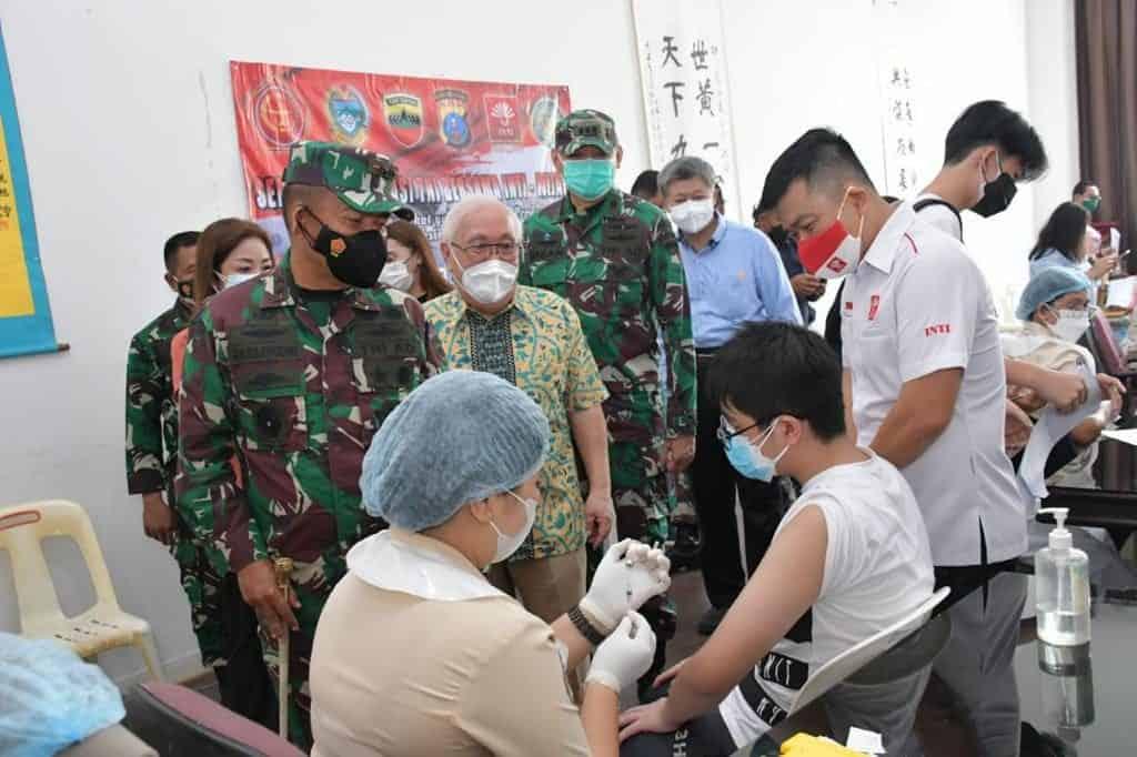 Kodam I/BB Bersama Perhimpunan Inti Sumut dan Yayasan Wijaya Bergandengan Tangan Dalam Percepatan Vaksinasi Covid-19