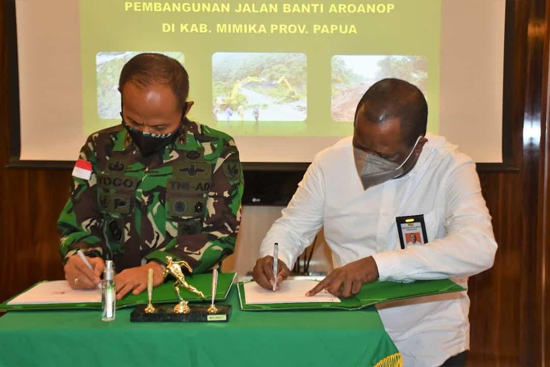 Buka Akses Jalan di Papua, Ditjen Bina Marga Kementerian PUPR Kerja Sama Dengan Kodam XVII/Cenderawasih