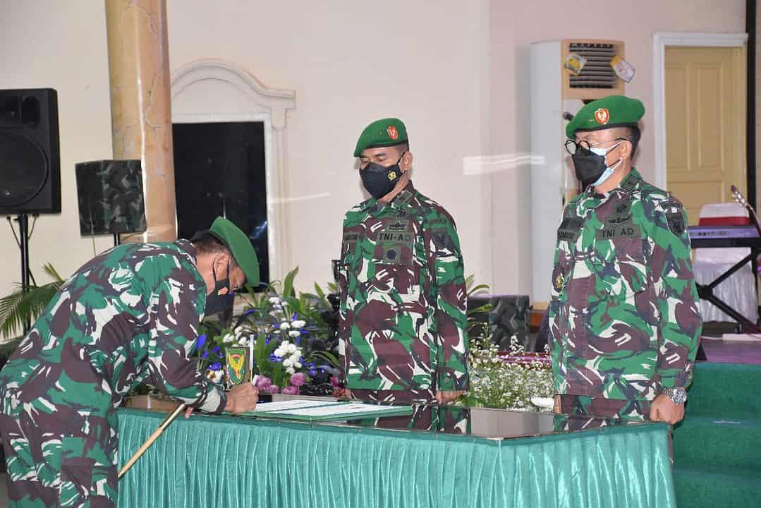 Pangdam II/Sriwijaya Pimpin Serah Terima Jabatan Kasdam II/Sriwijaya