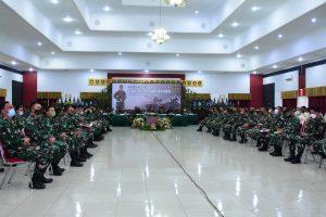 Jalin Silaturahmi dan Update Informasi Korps Arhanud, Danpussenarhanud Laksanakan Morning Call