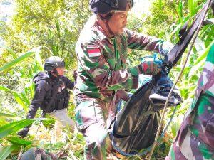 Satgas Kolakops Korem 172/PWY Berhasil Evaluasi Jenazah Suster Maelani di Kiwirok