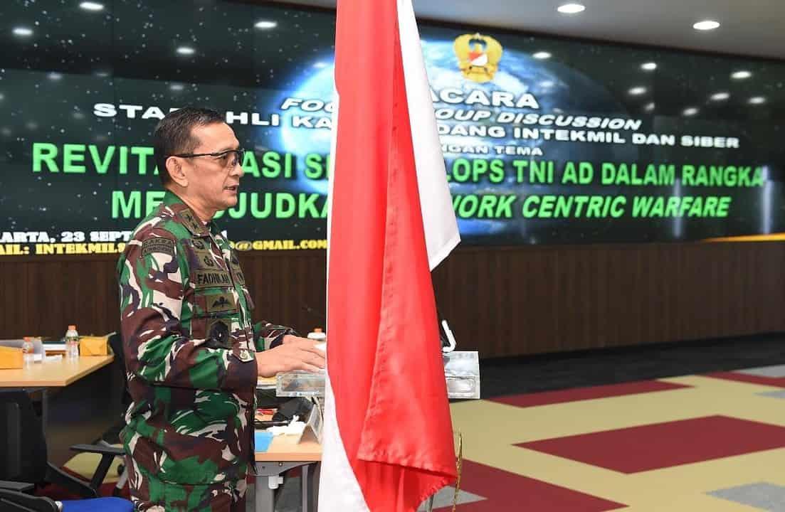 FGD Sahli Kasad Bahas Revitalisasi Siskodalops TNI AD Dalam Rangka Mewujudkan Network Centric Warfare (NCW)