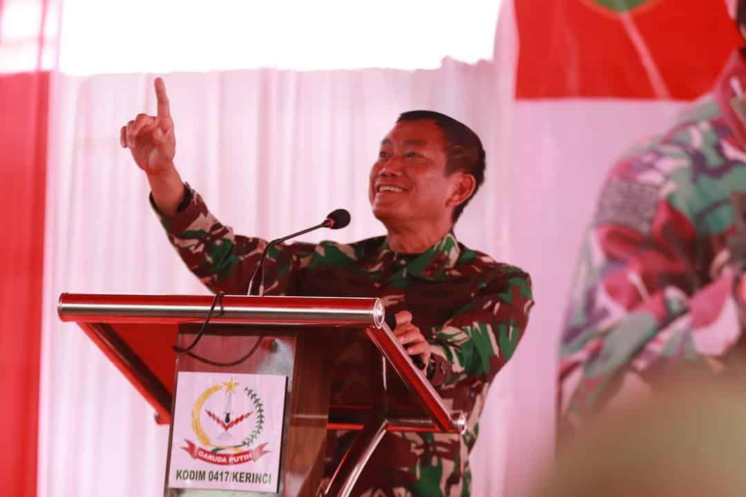 Pangdam II/ Sriwijaya Kunjungi Kodim 0417/Kerinci di Provinsi Jambi
