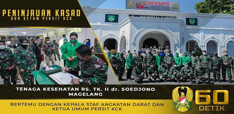 Tenaga Kesehatan RS. Tk. II dr. Soedjono Magelang Bertemu dengan Kasad dan Ketua Umum Persit KCK