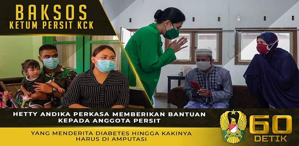 Kunjungan Ketum Persit KCK ke Anggota Persit yang Sakit Diabetes Sehingga Kakinya Diamputasi