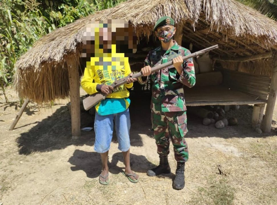100 Pucuk Senjata Api Berhasil Diamankan Yonarmed 6/3 Kostrad Selama 6 Bulan Penugasan di Perbatasan RI-Timor Leste