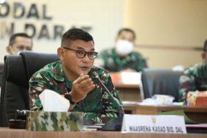 Srenaad Gelar Rapat Evaluasi Sisfo TNI AD Semester I TA. 2021