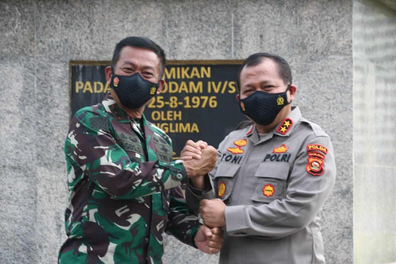 Pangdam dan Kapolda Sumsel Bertemu Bahas Sinergitas Dalam Amankan Wilayah