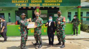Kunjungan Lanjutan Tim Survei Patok/Pilar Batas Negara dan Sarpras Hankam ke Pos Jajaran Satgas Pamtas RI-Malaysia Yonif 144/JY