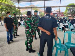 Kodim 1628/SB Gelar Serbuan Vaksinasi Sasar Siswa Sekolah di Sumbawa Barat