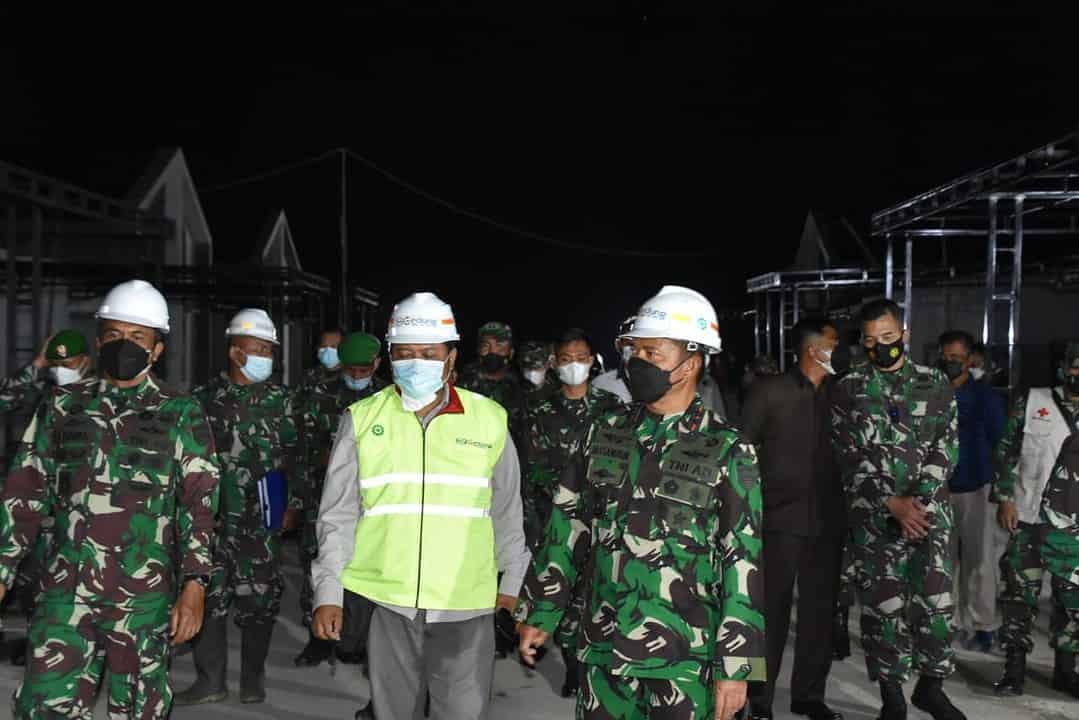 Pangdam I/BB Tinjau Pembangunan Rumah Dinas Prajurit Kodim 0210/TU