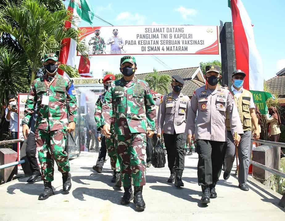Kunjungi Lombok, Panglima TNI dan Kapolri Apresiasi Penanganan Covid-19 di NTB Sangat Baik