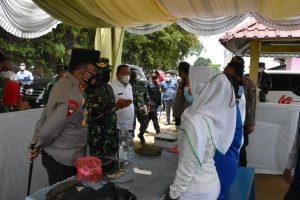 Tekan Penyebaran Covid-19, Pangdam I/BB dan Kapoldasu Tinjau Pos PPKM Kota Sibolga