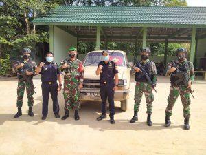 Satgas Pamtas Yonif Mekanis 643/Wns Berhasil Gagalkan Penyelundupan Mobil Asal Malaysia