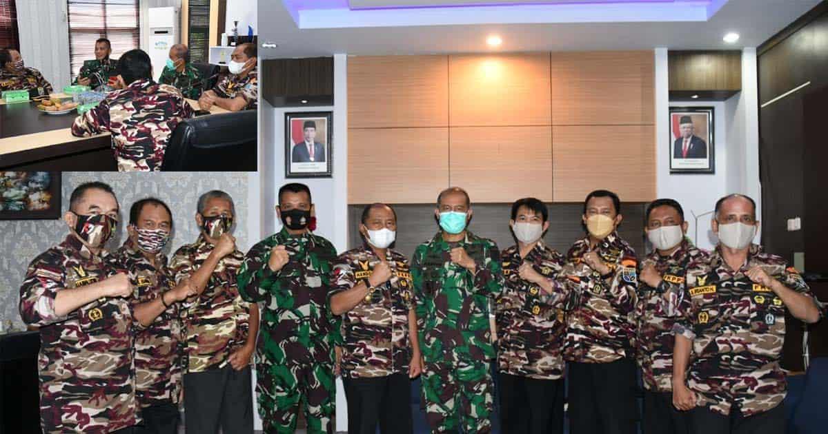 Danrem 133/NW Silarurahmi Dengan Pengurus FKPPI Provinsi Gorontalo