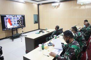 Bahas Penanganan Covid-19, Pangdam Cenderawasih Ikuti Vicon Bersama Panglima TNI