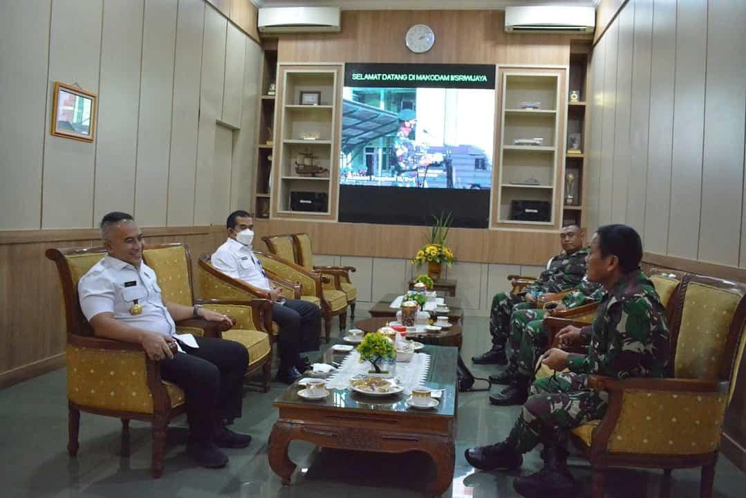 Terima Audiensi Kepala BNN Provinsi Sumsel, Ini Komitmen Pangdam II/Sriwijaya