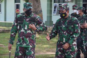 Kasdam I/BB Cek Kesiapan Operasi Satgas Pamtas RI-PNG Yonif 123/RW