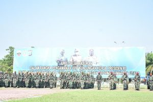 Pangdam I/BB Pimpin Apel Gelar Pasukan Satgas Pam VVIP Kunker Presiden RI ke Wilayah Sumatera Utara