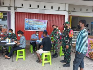 Strategi Jitu Aparat TNI di Kabupaten Mimika Gencarkan Vaksinasi Covid -19