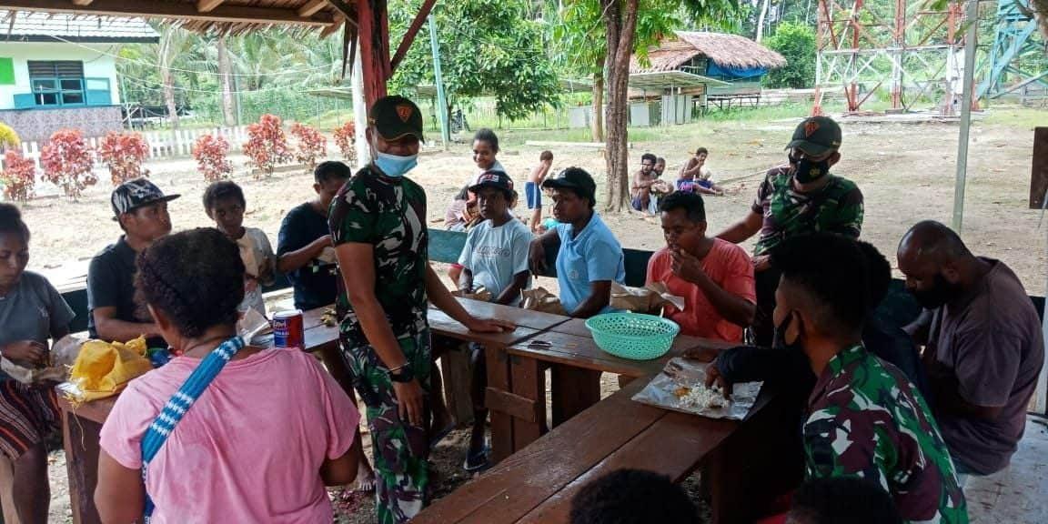 Satgas Yonif 131/Brs Silaturahmi Ke Tokoh Masyarakat Papua