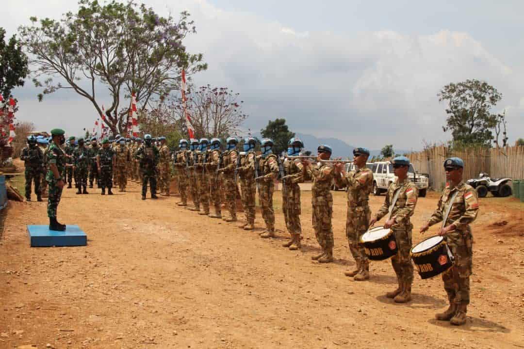 Pejabat Mabesad Kunjungi Satgas BGC TNI Kongo