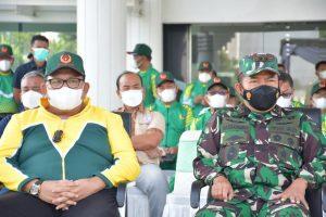 Pangdam I/BB Dampingi Gubernur Lepas Kontingen PON XX/2021 Sumut