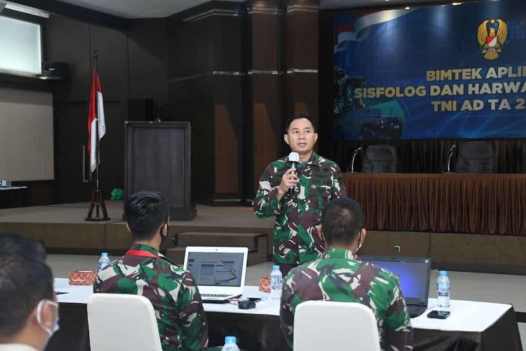 Srenaad Gelar Bimtek Sisfolog dan Harwat Alutsista TNI AD TA. 2021
