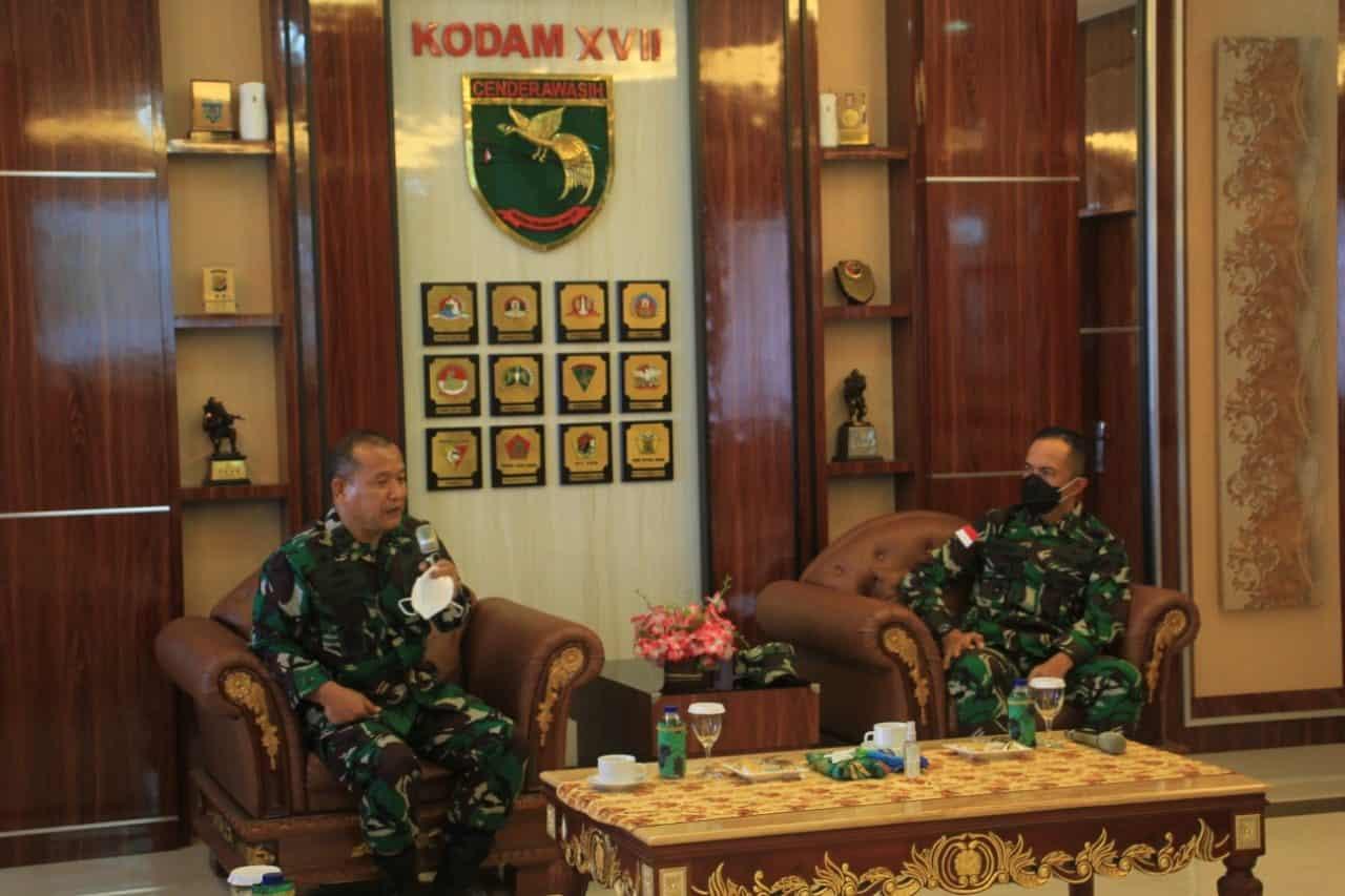 Kodam XVII/Cenderawasih Terima Kunjungan Kerja Kaskogabwilhan III