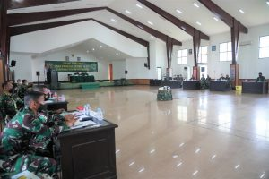 Pangdam XVIII/Kasuari Pimpin Sidang Pemilihan Caba PK Reguler Pria TA. 2021 TNI AD Subpanpus Kodam XVIII/Kasuari