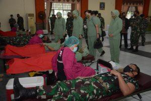 Momen HUT Ke 76 TNI Gelar Baksos Donor Darah dan Tuntaskan Pilot Project Pompa Hidram