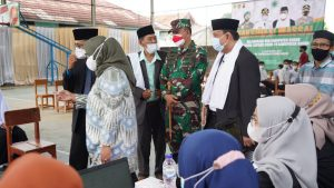 Korem 061/SK Dukung Penuh Vaksinasi Kolaborasi MUI Bogor Dengan Satgas Covid-19 Bagi Santri