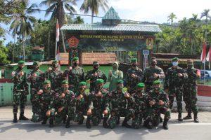 Satgas Yonif 131/Brs Terima Kunjungan Pangdam I/Bukit Barisan